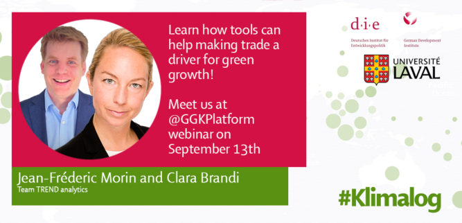 Meet Clara Brandi and Jean-Fréderic Morin from TREND analytics at GGKP webinar on September 13th